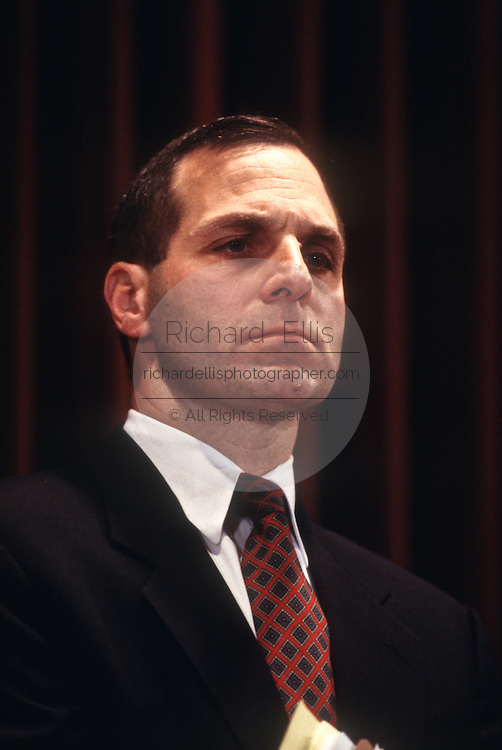 FBI Director Louis Freeh, at FBI headquarters December 18, 1996 in Washington, DC.  Freeh announced the arrest of FBI agent Earl Edwin Pitts on charges of selling secrets to Russia.