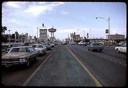 Las Vegas Strip, Silver Slipper in the view, July 1973