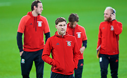 CARDIFF, WALES - Monday, October 9, 2017: Wales' Ben Davies on the pitch before the 2018 FIFA World Cup Qualifying Group D match between Wales and Republic of Ireland at the Cardiff City Stadium. (Pic by Paul Greenwood/Propaganda)
