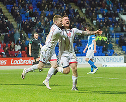 Ross County's Craig Curran cele scoring their third goal. St Johnstone 2 v 4 Ross County. SPFL Ladbrokes Premiership game played 19/11/2016 at St Johnstone's home ground, McDiarmid Park.