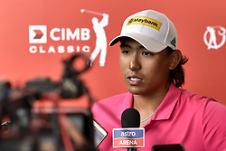 October 13, 2017 - Kuala Lumpur, Malaysia - Gavin Kyle Green of Malaysia has an interview with press during the second round of the CIMB Classic 2017 golf tournament on October 13, 2017 at TPC Kuala Lumpur, Malaysia. (Credit Image: © Chris Jung/NurPhoto via ZUMA Press)