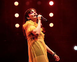 """Chvrches, Love Is Dead Tour, Glasgow Hydro, Saturday 16th February 2019<br /> <br /> Scottish band Chvrches performed at the SSE Hydro in Glasgow as part of their """"Love Is Dead"""" tour celebrating their third album of the same name.<br /> <br /> The band consists of Lauren Mayberry (singer), Iain Cook (synthesizers and guitars) and Martin Doherty (synthesizers)<br /> <br /> Pictured: Lauren Mayberry<br /> <br /> Aimee Todd   Edinburgh Elite media"""