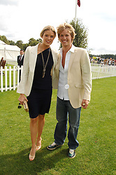 SAM BRANSON and ISABELLA ANSTRUTHER-GOUGH-CALTHORPE at the Cartier International polo at Guards Polo Club, Windsor Great Park on 29th July 2007.<br />