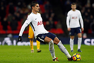 Erik Lamela of Tottenham Hotspur in action. Premier league match, Tottenham Hotspur v Brighton & Hove Albion at Wembley Stadium in London on Wednesday 13th December 2017.<br /> pic by Steffan Bowen, Andrew Orchard sports photography.