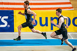 Thijmen Kupers in action on the 800 meter during AA Drink Dutch Athletics Championship Indoor on 20 February 2021 in Apeldoorn.