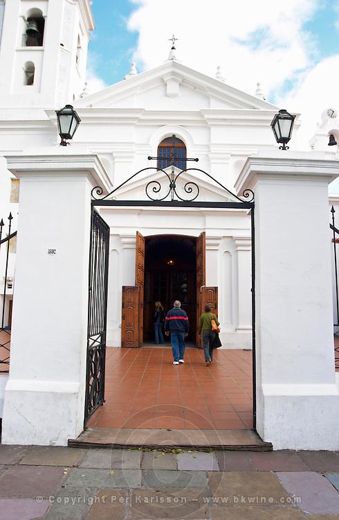 Entrance to Basilica de Nuestra Senora del Pilar church in the Recoleta district. Buenos Aires Argentina, South America