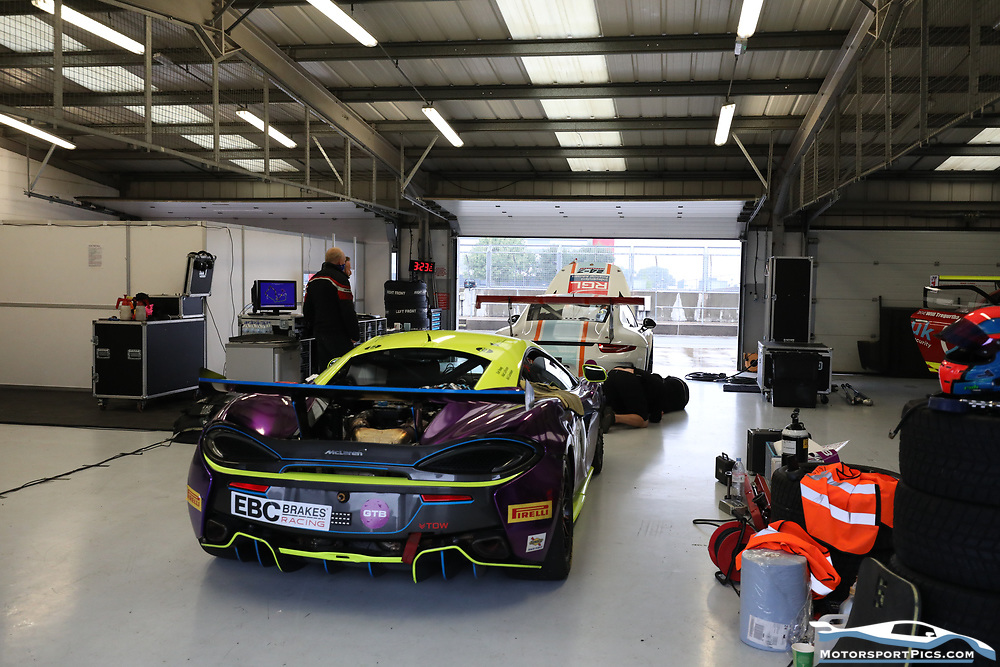 15 August 2020. Pits and Paddock. Silverstone