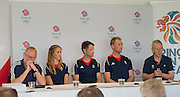 Caversham, Nr Reading, Berkshire.<br /> <br /> Top Table left to right. Mark ENGLAND, Helen GLOVER, Chrid BARTLEY, Alex GREGORY anf Sir David TANNER, Olympic Rowing Team Announcement  Press conference at the RRM. Henley.<br /> <br /> Thursday  09.06.2016<br /> <br /> [Mandatory Credit: Peter SPURRIER/Intersport Images] 09.06.2016,