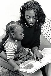Toddler and mum, UK 1988