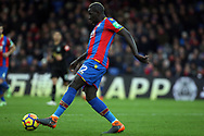 Mamadou Sakho of Crystal Palace in action. Premier League match, Crystal Palace v Newcastle Uutd at Selhurst Park in London on Sunday 4th February 2018. pic by Steffan Bowen, Andrew Orchard sports photography.
