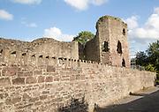 Abergavenny castle, Monmouthshire, South Wales, UK
