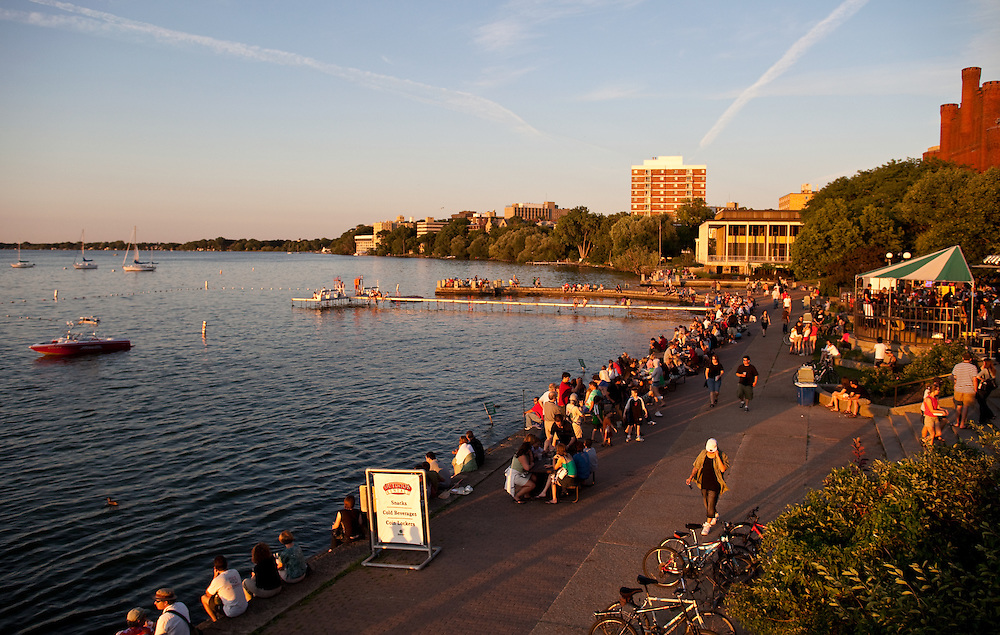 Memorial Union on the campus of the University of Wisconsin-Madison in Madison, Wis. (Photo @ Andy Manis)