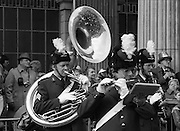 St Patrick's Day Parade.1982.17/03/1982.03.17.1982.Bands from many countries take part in Ireland's national day..Here the Netherlands airforce takes part.
