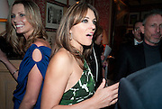 ELIZABETH HURLEY, Graydon Carter hosts a diner for Tom Ford to celebrate the London premiere of ' A Single Man' Harry's Bar. South Audley St. London. 1 February 2010