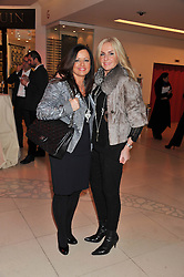Left to right, HELEN BYGRAVES and JENNY WEISS Co-founders of Luxury Interior Design Consultancy Hill House Interiors at the London Design Week 2013 Party, held at the Design Centre, Chelsea Harbour, London SW10 on 18th March 2013.