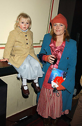 Actress MIRANDA RICHARDSON and her god daughter CAELO DINEEN-VANSTONE at the press night of Cirque Du Soleil's 'Alegria' held at the Royal Albert, London on 5th January 2006.<br /><br />NON EXCLUSIVE - WORLD RIGHTS
