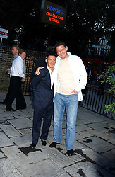 FRANKIE DETTORI and MARCO PIERRE WHITE  at the opening party of the new Frankie's Italian Bar and Grill hosted by Frankie Dettori, Marco Pierre White and Edward Taylor at 68 Chiswick High Road, London W4 on 1st September 2005.<br /><br />NON EXCLUSIVE - WORLD RIGHTS