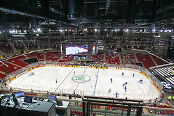 Arena during Ice Hockey match between National Teams of Great Britain and Slovenia in Round #1 of 2018 IIHF Ice Hockey World Championship Division I Group A, on April 22, 2018 in Budapest, Hungary. Photo by David Balogh / Sportida