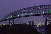 Lightning, bridge, Jacksonville, Florida<br />