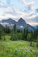 Kintla and Kinnerly Peaks Glacier National Park