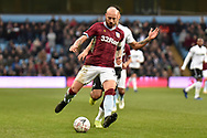 Aston Villa defender Alan Hutton (21) on defensive duties during the The FA Cup 3rd round match between Aston Villa and Swansea City at Villa Park, Birmingham, England on 5 January 2019.