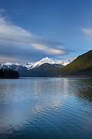 Mount Shuksan (9131 feet, 2783 meters) seen from Baker Lake, North Cascades Washington