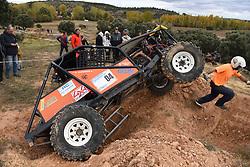 October 27, 2018 - Las Cuevas, Soria, Spain - A 4x4 car takes part in the 'VI Extremo Las Cuevas 4x4' racing near of the small village of 'Las Cuevas', north of Spain. (Credit Image: © Jorge Sanz/Pacific Press via ZUMA Wire)