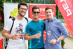 Miha Mlakar, Andraz Bedene and Ziga Koscak at Petrol VIP tournament 2018, on May 24, 2018 in Sports park Tivoli, Ljubljana, Slovenia. Photo by Vid Ponikvar / Sportida