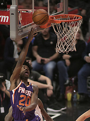 December 20, 2017 - Los Angeles, California, U.S - Josh Jackson #20 of the Phoenix Suns  goes for a reverse layup during their NBA game with the Los Angeles Clippers  on Wednesday December 20, 2017 at the Staples Center in Los Angeles, California. Clippers vs Suns. (Credit Image: © Prensa Internacional via ZUMA Wire)