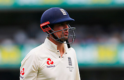 England's Alastair Cook walks off after being dismissed during day four of the Ashes Test match at Sydney Cricket Ground.