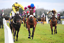 Al Boum Photo ridden by David Mullins (left) go on to win the Ryanair Gold Cup Novice Chase during Ryan Air Gold Cup Day of the 2018 Easter Festival at Fairyhouse Racecourse, Ratoath, Co. Meath.