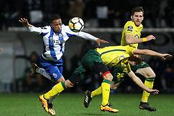 March 11, 2018 - Pacos Ferreira, Pacos Ferreira, Portugal - Porto's Portuguese forward Hernani (L) vies with Pacos Ferreira's Portuguese defender Filipe Ferreira (R) during the Premier League 2017/18 match between Pacos Ferreira and FC Porto, at Mata Real Stadium in Pacos de Ferreira on March 11, 2018. (Credit Image: © Dpi/NurPhoto via ZUMA Press)