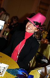 MISS VANESSA TEAGUE at 'A Rout' an evening of late evening party, essentially of revellers in aid of the Great Ormond Street Hospital Children's Charity and held at Claridge's, Brook Street, London W1 on 25th January 2005.<br /><br />NON EXCLUSIVE - WORLD RIGHTS