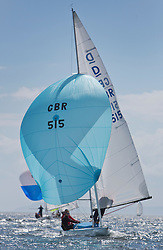 International Dragon Class Scottish Championships 2015.<br /> <br /> Day 1 racing in perfect conditions.<br /> <br /> GBR 515, Basilisk<br /> <br /> <br /> Credit Marc Turner