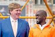 Willem Alexander is dinsdagmiddag 5 juli aanwezig bij de openingsceremonie van de Europese Kampioens