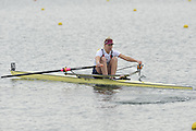 Eton, United Kingdom  GBR W1X. Mel WILSON, at the start of the women's single sculls  time trial,  at the 2012 GB Rowing Senior Trials, Dorney Lake. Nr Windsor, Berks.  Saturday  10/03/2012  [Mandatory Credit; Peter Spurrier/Intersport-images]