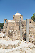 Architecture of church building made of stone, Paphos Archaeological Park, Paphos, Cyprus