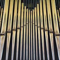 Europe, Norway, Flam. Flam Church Organ Pipes.