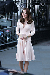 The Duchess of Cambridge leaves the National Portrait Gallery in London, after viewing the Vogue 100: A Century of Style exhibition and two photographic portraits of herself taken as part of a wider spread in British Vogue's centenary June issue.