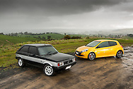 1980 Talbot Sunbeam Lotus & 2012 Renault Clio RS.Loch, Victoria.10th June 2012.(C) Joel Strickland Photographics.Use information: This image is intended for Editorial use only (e.g. news or commentary, print or electronic). Any commercial or promotional use requires additional clearance.
