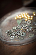 Close-up of lots of old Chinese coins, Zhujiajiao, Shanghai, China