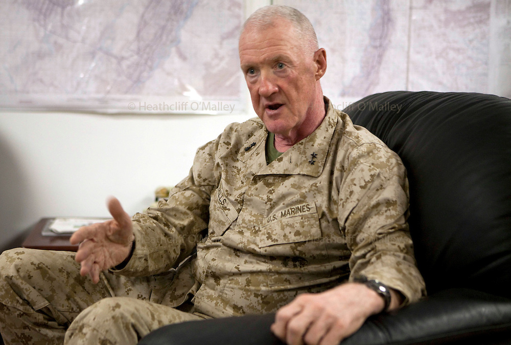 Mcc0027461 . Daily Telegraph..Major General Richard P. Mills of the USMC, the top commander in Helmand province, Afghanistan. ..Helmand 5 December 2010