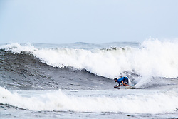 Bino Lopes of Brazil advances to round three after placing second in round two heat 4 of the 2018 Hawaiian Pro at Haleiwa, Oahu, Hawaii, USA.