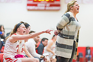 Kirkwood Coach Monica Tritz yells during a girls quarterfinal basketball game of the 44th annual Visitation Christmas Tournament  on Wednesday, Dec. 26, 2018, at Visitation Academy in Town & Country, Mo.  Gordon Radford   Special to STLhighschoolsports.com