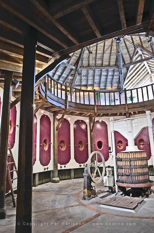 Fermentation tanks. Chateau Bellefont Belcier, Saint Emilion, bordeaux, France