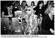Elaine Page at Amanda Wakeley fashion show. 27 September 1997. Film 97297f27<br />