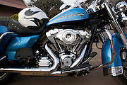 Harley Davidson motorbike. Photographed in India