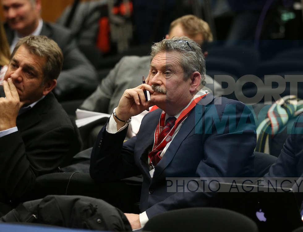 Former Sky Spots presenter Nick Collins looks on during the press conference at Wembley Stadium, London. Picture date December 1st, 2016 Pic David Klein/Sportimage