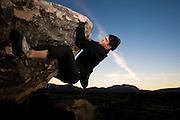 Rock climbing at Hueco Tanks State Park.