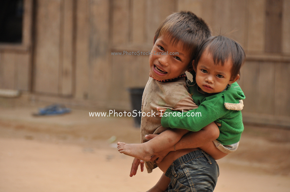 Portrait of two young boy in Laos